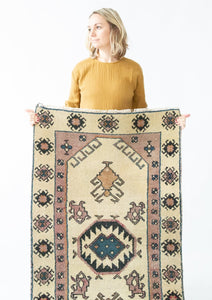 Margot Vintage Rug - Letty Blu