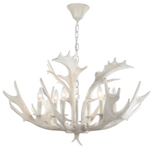Load image into Gallery viewer, White Antler Chandelier - Letty Blu