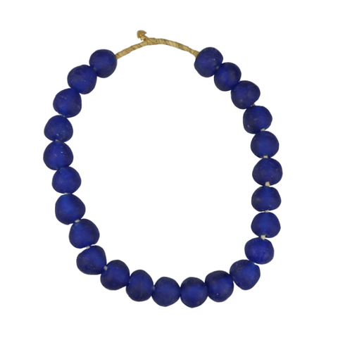Large Handmade Blue Beads - Letty Blu