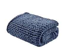 Load image into Gallery viewer, Handmade Chunky Double Knit Throw - Letty Blu