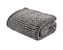 Load image into Gallery viewer, Handmade Chunky Double Knit Throw, Charcoal - Letty Blu