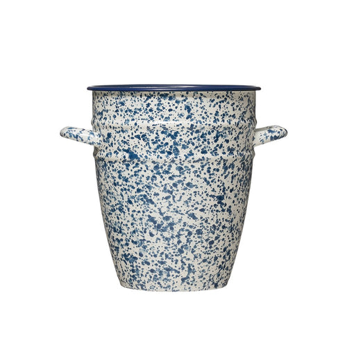 Blue Vintage Inspired Splatterware Vase - Letty Blu