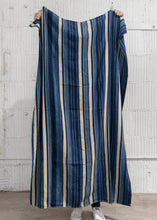 Load image into Gallery viewer, Vintage Blue Striped Throw - Letty Blu