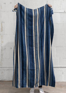 Vintage Blue Striped Throw - Letty Blu