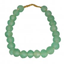 Green Recycled Handmade Beads, Large - Letty Blu