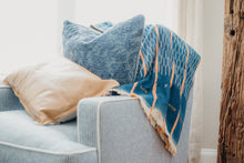 Load image into Gallery viewer, Vintage Idlewild Throw Blanket - Letty Blu