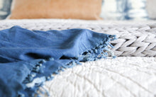 Load image into Gallery viewer, Bradford Throw Blanket - Letty Blu