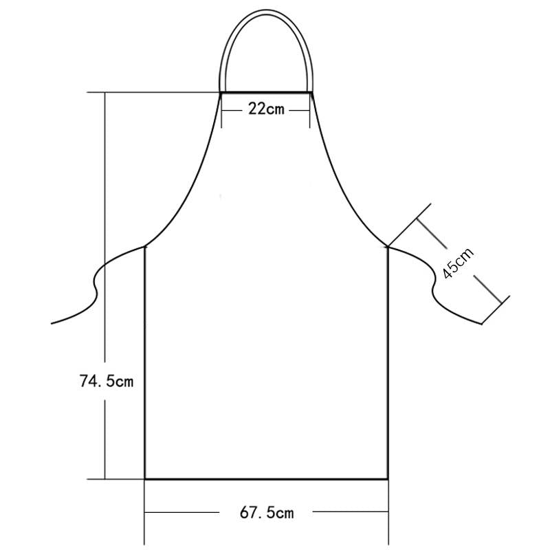 "Apron ""Couteaux"" Red"