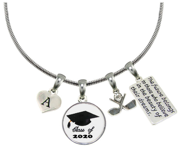 Custom Class of 2020 Graduation Golf Golfer Necklace Gift Choose Initial All 26