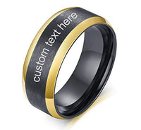 MEALGUET Custom Engrave Stainless Steel Graduation Gift Mens Brushed Ring Band Mens Promise Ring for Him Personalized