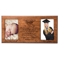 Personalized Graduation Gift for Graduate Ideas for Men and Women Picture Frame Holds 2 4x6 Photos for I Know The Plans I Have for You Declares The Lord (Maple)