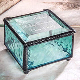 Graduation Gift Personalized Jewelry Box Engraved Glass Keepsake for High School Graduate Or College Grad Class of 2019 Daughter, Granddaughter, Girl, Friend J Devlin Box 898 EB217-3 (Windsor Blue)