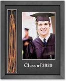 Imaging Expressions Graduation Frame Black, Tassel Holder & Picture Opening, Black Shadowbox with Glass, for Table or Desk Use (2020)