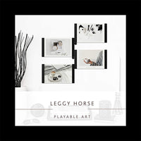 SITENG LeggyHorse Collage Picture Frame, 5x7 inch White Photo Display Frame for Desk or Wall (Set of 4)