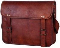 "13"" Handmade Leather Messenger Bag Satchel Leather Laptop Bag By Rustic Town"