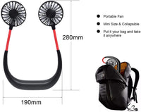 control future Hanging Neck Fan - Hand Free Portable Neck Sports Fans, USB Rechargeable Personal Wearable Fan Premium Headphone Design Mini Neckband Fan for Office Outdoor Travel (Upgraded Version)