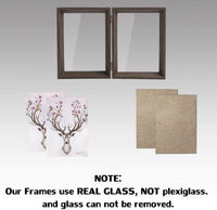 5x7 Picture Frames Double Hinged Beveled Wood Photo Frame with Glass Standing Vertical on Tabletop, Brown