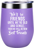 Best Friend Gifts for Women - Mothers Day Gift for Friends Female - Funny Long Time, Long Distance Friendship Gifts for Women - Birthday Gifts for Soul Sister, BFF, Besties, Her - Coolife Wine Tumbler