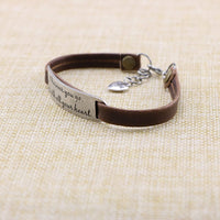 UNQJRY Bracelets for Girls Inspirational Gifts for Women Leather Wrap Bangle Jewelry