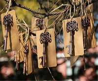 Yansanido Pack of 50 Rose Gold Skeleton Key Bottle Opener with Escort Tag Card and Twine for Wedding Favors for Guests Party Favors-Rose Gold