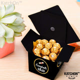 Graduation Party Decorations Gift Box - Congrats Grad Cap Shape Treat Boxes | Graduation Party Favor | Graduation Gift Box | Graduation Candy Box for Chocolate | Favors for Kids, Guests. Grad | 25 ct