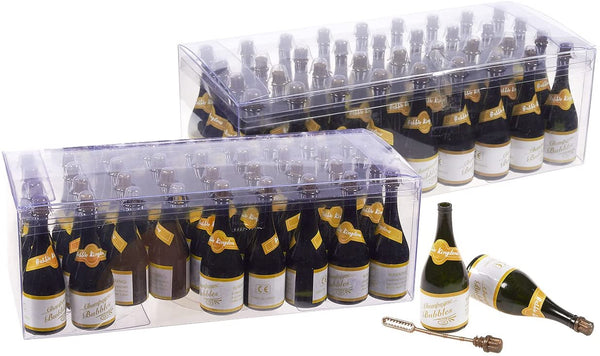 72 Pack Champagne Bubbles - Wedding Bubbles - Bubble Wand Party Favors for Weddings, Graduations, Celebrations, Birthdays, Events, 1.2 x 3.5 x 1.2 Inches (22.5ml)