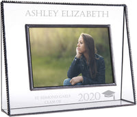 Graduation Picture Frames Personalized Class of 2020 Gift Engraved Glass Photo College High School Middle Graduate Multiple J Devlin Pic 319 EP500 (5x7 Vertical)