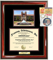 Diploma Frame FSU Florida State University Graduation Gift Idea Engraved Picture Frames Engraving Degree Large Personalized Graduate Bachelor Masters MBA PHD Doctorate