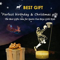 3D Baseball Man Lamp Led Illusion Night Light with Remote & Flashing Modes,Best Birthday Christmas Graduation Gifts Ideas Baseball Presents for Boys Girls Kids(Baseball Man-2)