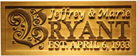 "ADVPRO wpa0246 Personalized Custom Wedding Anniversary Family Sign Surname Last First Name Rustic Home Décor Housewarming Gift 5 Year Wood Wooden Signs - Standard 23"" x 9.25"""