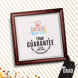 Graduation Gifts | 7x7 Ceramic Tile Artwork for Graduation Gift | Perfect and Unique Way to Celebrate a College or Middle School Graduation | Ideal for Room Decoration