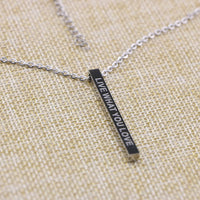 Joycuff Graduation Gift for Her Inspirational Jewelry Gifts Vertical Bar Necklace for High School Graduate Live What You Love