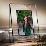J Devlin PIc 319-57V EP500 Personalized Graduation Picture Frame High School or College Graduate Gift Class of 2019 Engraved Glass Tabletop 5 x 7 Vertical Photo