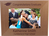 Congratulations Graduate Class of 2019 - Custom Wood Picture Frame Holds 4x6 Inch Photo - Add The Year Custom Graduation