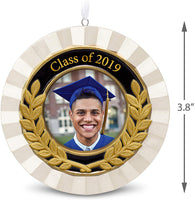Hallmark Keepsake Christmas Ornament Year Dated Congrats, Grad Picture Frame Porcelain and Metal, 2019 Graduation