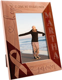 Personalized Picture Frame Gift, Survivor It Came, We Fought, I Won Custom Engraved with Name | Breast Cancer Survivor Gift