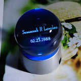 Personalized Glass Name Customized Birthday Gift Special Date and Name Globe Custom Souvenir Gift Present Wedding Party Favors