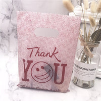 More Pattern Jewelry Plastic Bag With Handles 15x20cm Wedding Gift Thick Boutique Gift Shopping Packaging Plastic Handle Bag