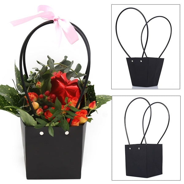 Beautiful Paper Box Bunga for Handy GIft Bag Christmas for Florist Handy Flower Bag Wedding Rose Party for Candy Cake birthday