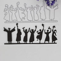 graduates revelry decoration Metal steel frames Cutting Dies DIY Scrap booking Photo Album Embossing paper Cards 4.5*14.1cm