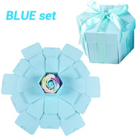 Hexagon Surprise Explosion Box DIY Handmade Scrapbook Photo Album Wedding Gift Box for Valentine Christmas Gift Boxes