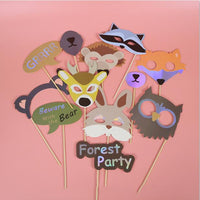 12 pcs Funny Photo Props DIY Selfie Props Decor Wedding Birthday Christmas Graduation Party Photography Flamingo Animal Mask