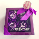 4pcs Valentines Day Gift for Boyfriend Rose Flower Soap Wedding Gifts for Guests Present Bridesmaid Gift Party Favors Souvenirs