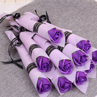 5pcs Bridesmaids Gift for Girlfriend Boyfriend Souvenirs Valentines Day Gift Flower Soap Wedding Gifts for Guests Party Favors