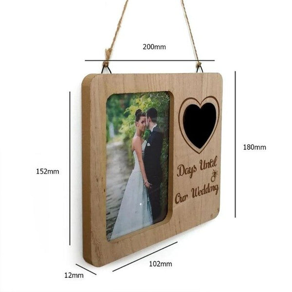 DIY Photo Frame Retro Wooden Clip Paper Picture Holder Wall Decoration For Wedding 2019 Graduation Party Photo Booth Props