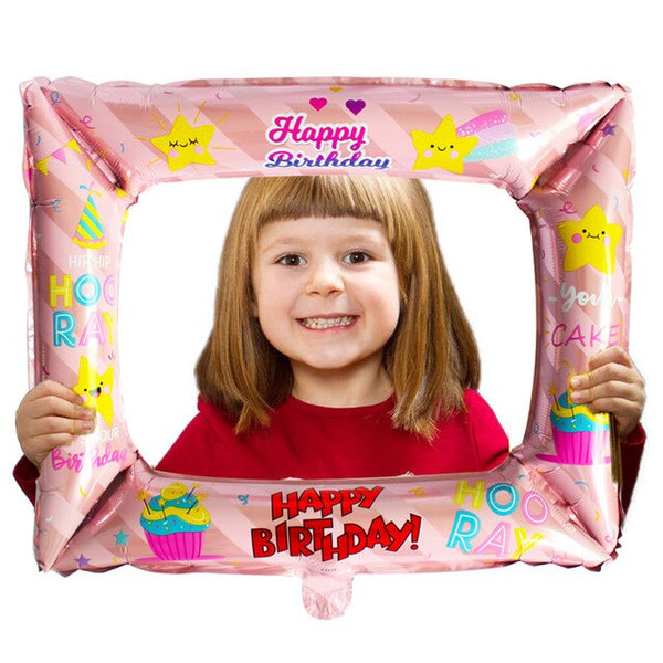 Happy Birthday Graduation Photo Frame Foil Balloon Birthday Party Decorations Adult Photobooth Accessories 30th 40th 50th 60th