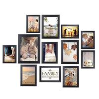 HOMEMAXS 12 PCS  Wooden Picture Frames Photo Frame Christmas Picture Holder Wedding Wall Decor Graduation Party Photo Booth Prop