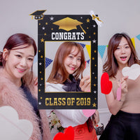 1pc Graduation Party Props Paper Decorative Class of 2019 Photo Frames Graduation Photo Props Picture Frames for Graduation