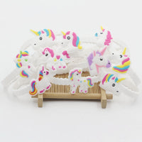12pcs/lot Unicorn Party Rubber Bangle Bracelet Birthday Party Supplies Gifts Kids Unicornio Party Favors Gifts for Guests