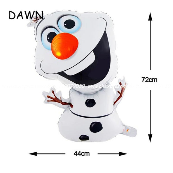 1pc 72*44cm Classic Toys Christmas Olaf Foil Balloon Birthday Birthday Party Ballons Snowman globos Decoration baby shower Gift